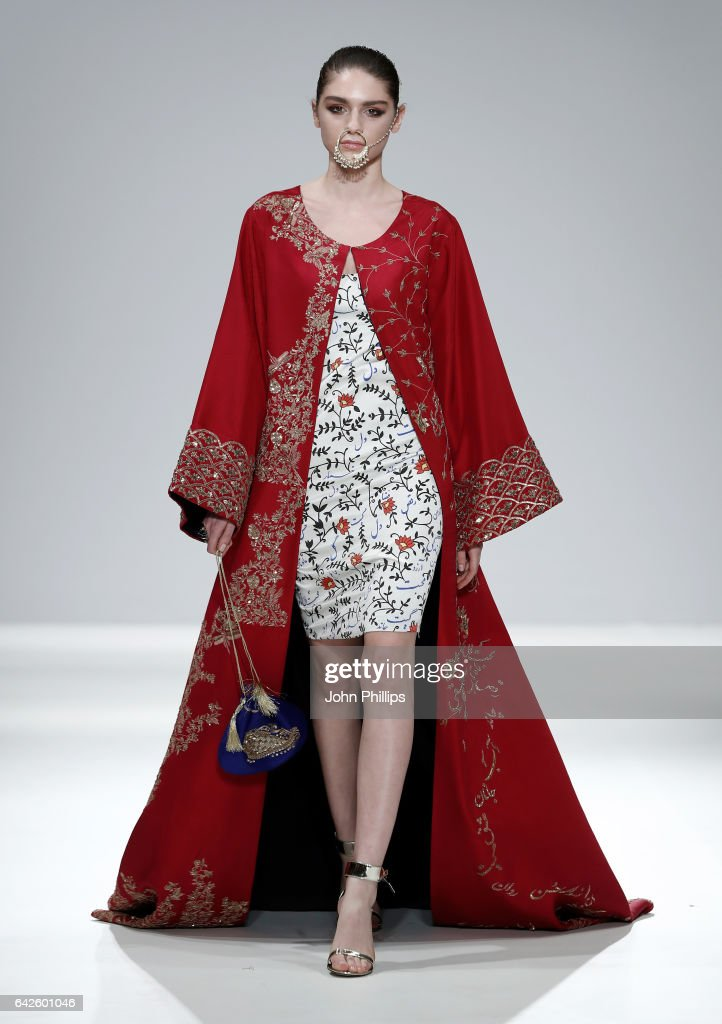 model-walks-the-runway-wearing-a-design-by-the-pinktree-company-at-picture-id642601046