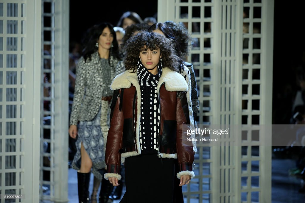 A model walks the runway wearing Altuzarra Fall 2016 during New York Fashion Week at Spring Studios on February 13, 2016 in New York City.