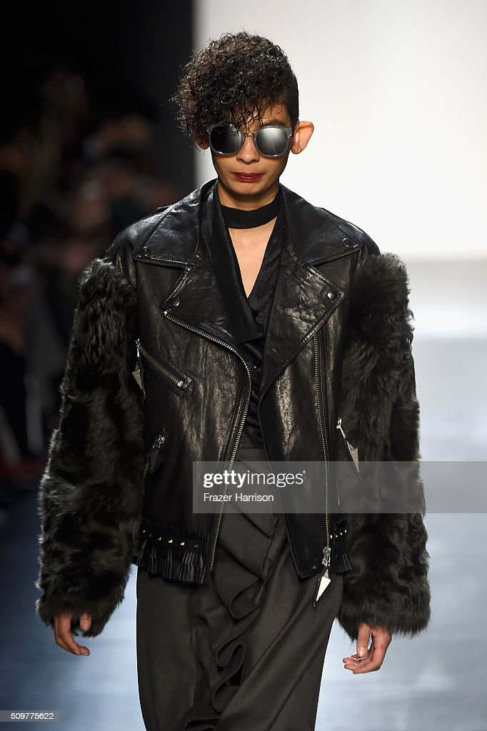 A model walks the runway wearing Concept Korea Fall 2016 during New York Fashion Week: The Shows at The Dock, Skylight at Moynihan Station on February 12, 2016 in New York City.