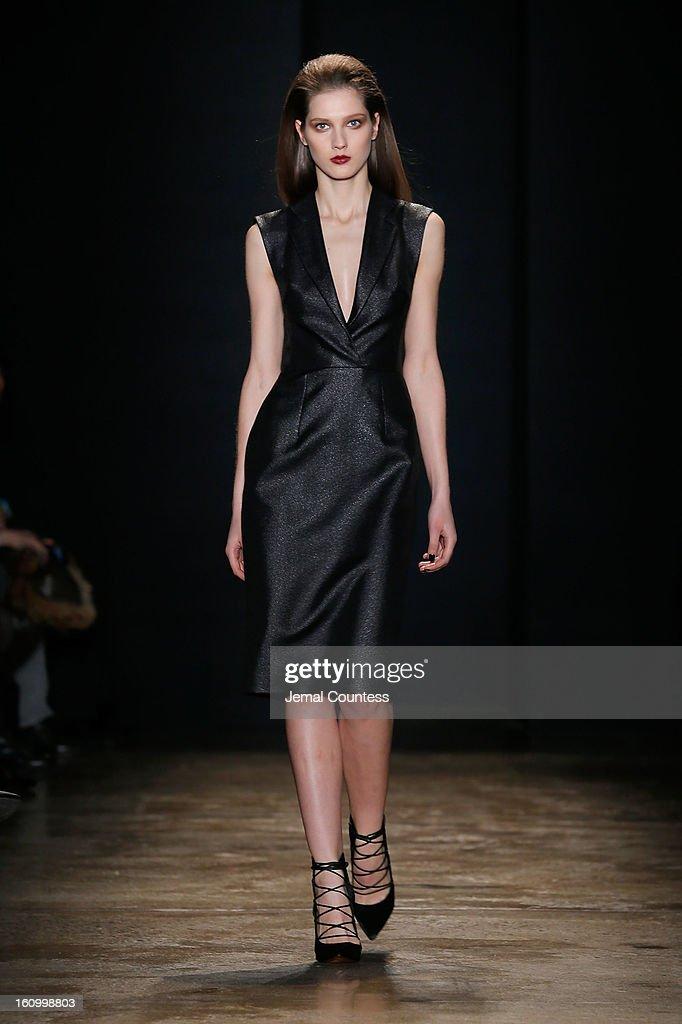 A model walks the runway wearing Cushnie Et Ochs fall 2013 at the Cushnie Et Ochs fall 2013 fashion show during MADE Fashion Week at Milk Studios on February 8, 2013 in New York City.