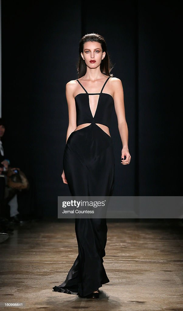 A model walks the runway wearing Cushnie Et Ochs fall 2013 at the Cushnie Et Ochs fall 2013 fashion show during MADE Fashion Week at Milk Studios on February 8, 2013 in New York City.