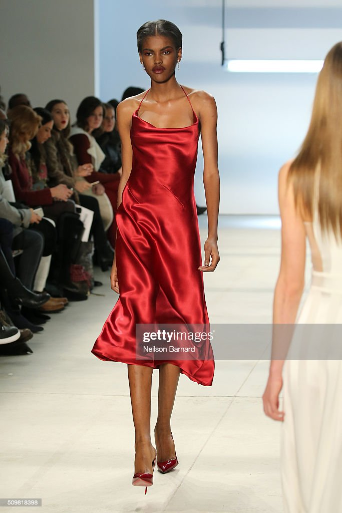 A model walks the runway wearing Cushnie Et Ochs Fall 2016 during New York Fashion Week: The Shows at The Gallery, Skylight at Clarkson Sq on February 12, 2016 in New York City.