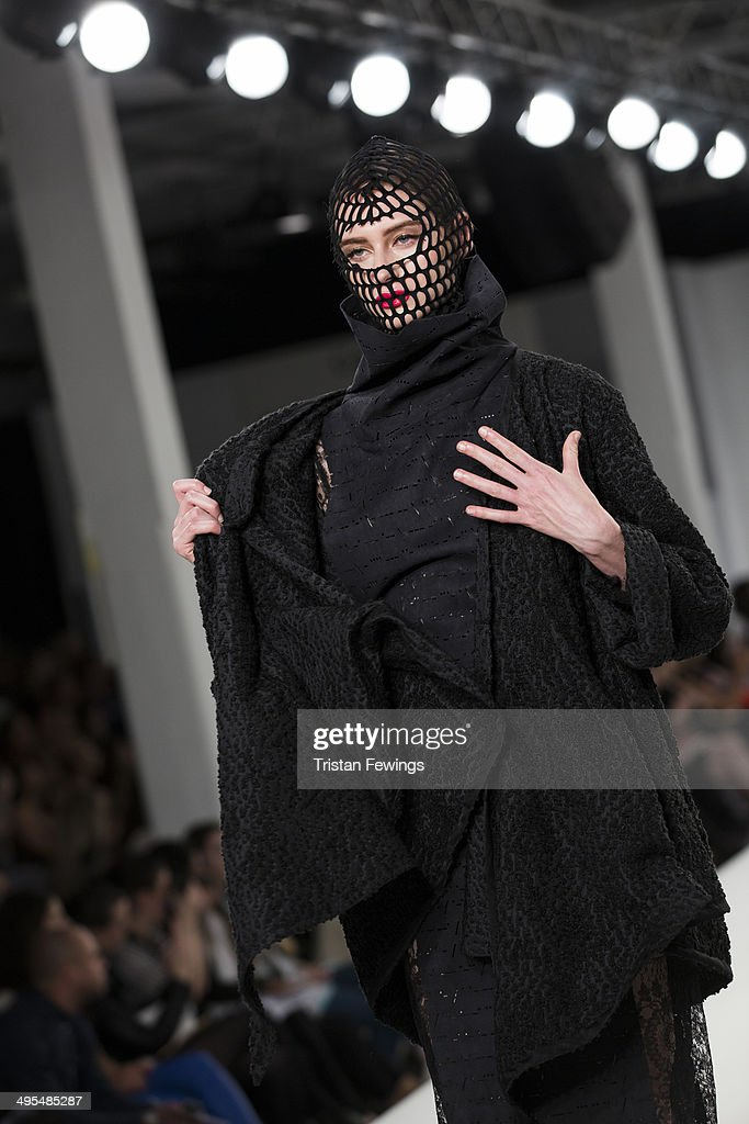 A model walks the runway wearing designs by Hannah Donkin during the Best of Graduate Fashion Week show during day 4 of Graduate Fashion Week 2014 at The Old Truman Brewery on June 3, 2014 in London, England.