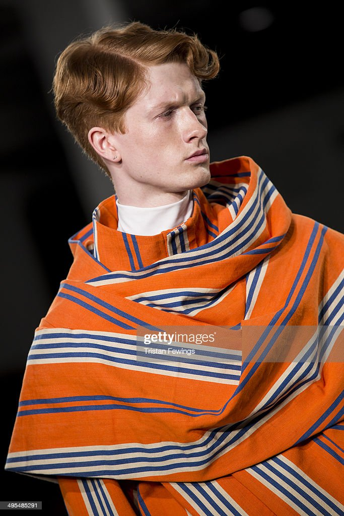 A model walks the runway wearing designs by Marianne Callaghan during the Best of Graduate Fashion Week show during day 4 of Graduate Fashion Week 2014 at The Old Truman Brewery on June 3, 2014 in London, England.