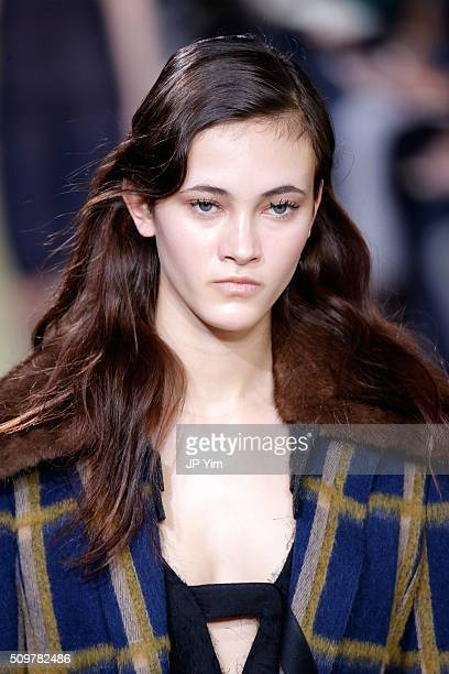 A model walks the runway wearing Jason Wu Fall 2016 during New York Fashion Week at Spring Studios on February 12 2016 in New York City