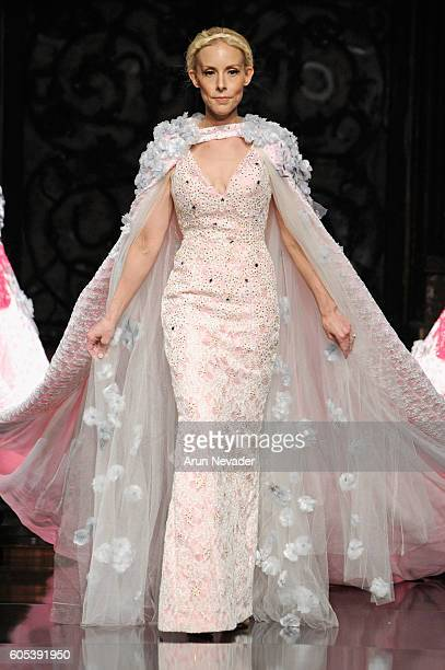 A model walks the runway wearing Kenneth Barlis at Art Hearts Fashion NYFW The Shows presented by AIDS Healthcare Foundation at The Angel Orensanz...