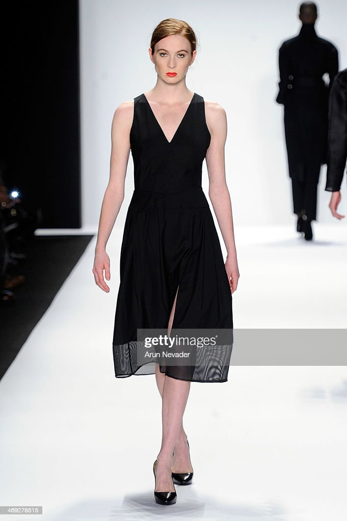 A model walks the runway wearing Kokler at the FLT Moda + Art Hearts Fashion show presented by AIDS Healthcare Foundation during Mercedes-Benz Fashion Week Fall 2014 on February 13, 2014 in New York City.