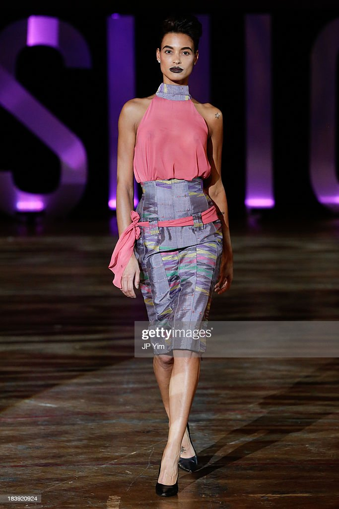 A model walks the runway wearing Kosibah during the 3rd Annual United Colors Of Fashion Gala at Lexington Avenue Armory on October 9, 2013 in New York City.
