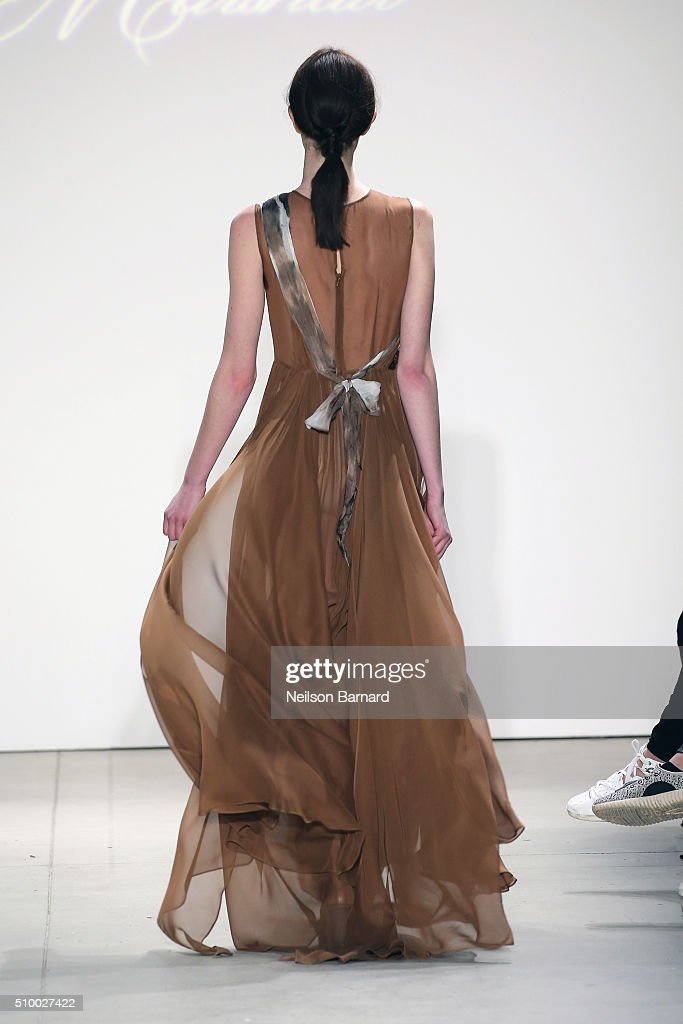 A model walks the runway wearing Leanne Marshall Fall 2016 during New York Fashion Week: The Shows at The Gallery, Skylight at Clarkson Sq on February 13, 2016 in New York City.