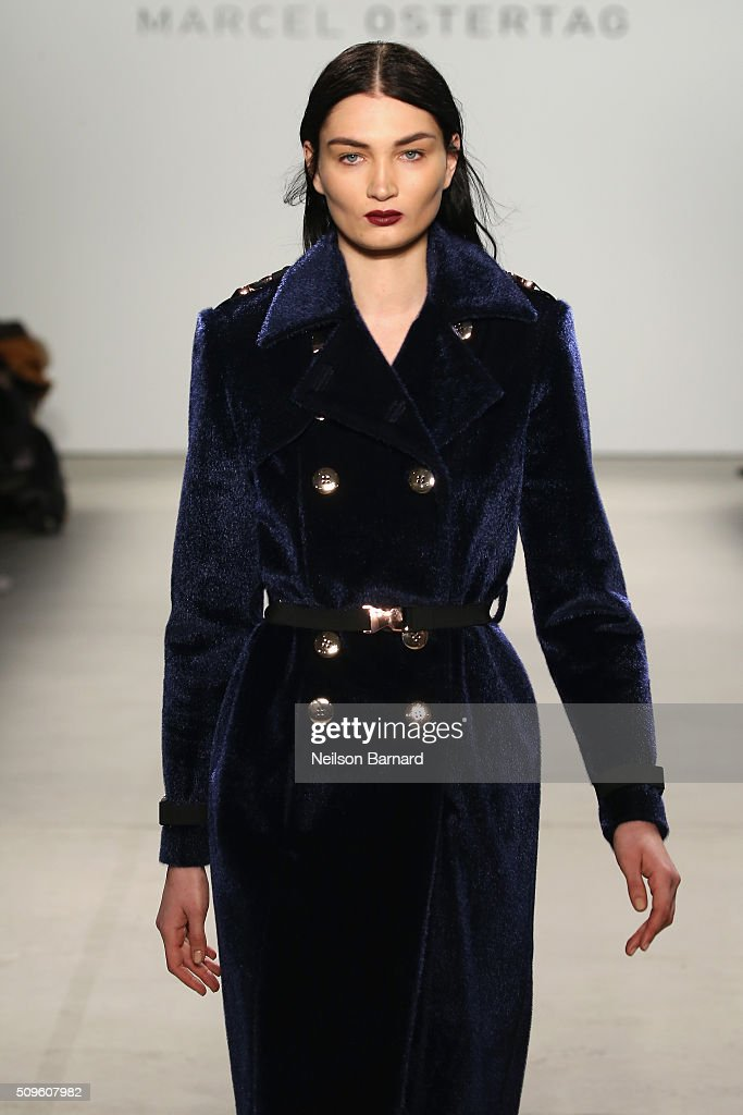 A model walks the runway wearing Marcel Ostertag Fall 2016 during New York Fashion Week: The Shows at The Gallery, Skylight at Clarkson Square on February 11, 2016 in New York City.