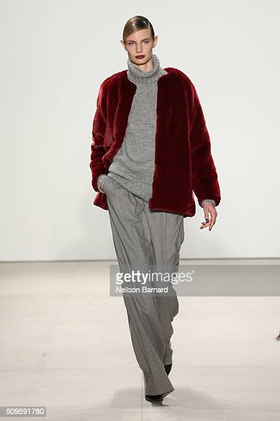 A model walks the runway wearing Marissa Webb Fall 2016 during New York Fashion Week The Shows at The Gallery Skylight at Clarkson Square on February...