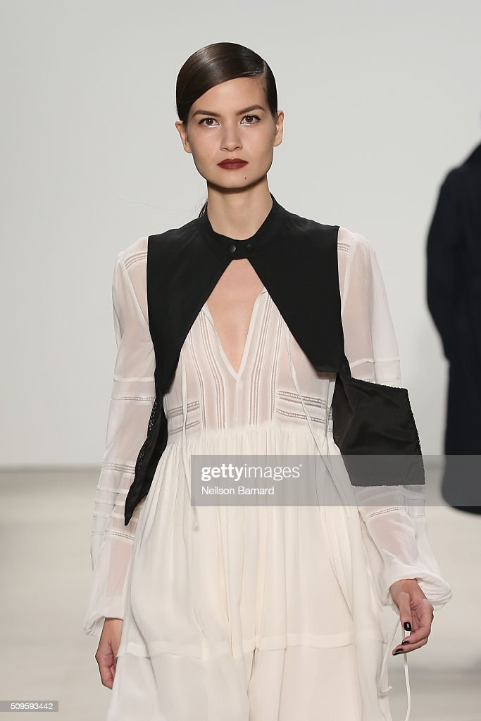 A model walks the runway wearing Marissa Webb Fall 2016 during New York Fashion Week: The Shows at The Gallery, Skylight at Clarkson Square on February 11, 2016 in New York City.