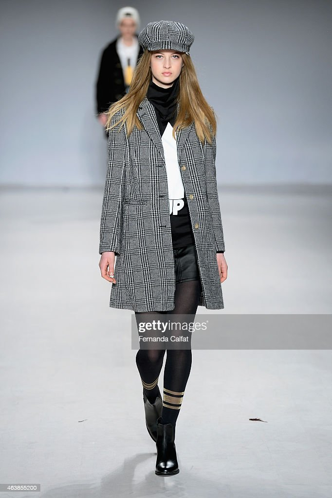 A model walks the runway wearing mastermind feat AGIRLS at the Tokyo Runway Meets New York fashion show during MercedesBenz Fashion Week Fall 2015 at...