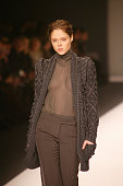 A model walks the runway wearing Max Mara Fall 2008 during Milan Fashion Week on February 21 2008 in Milan