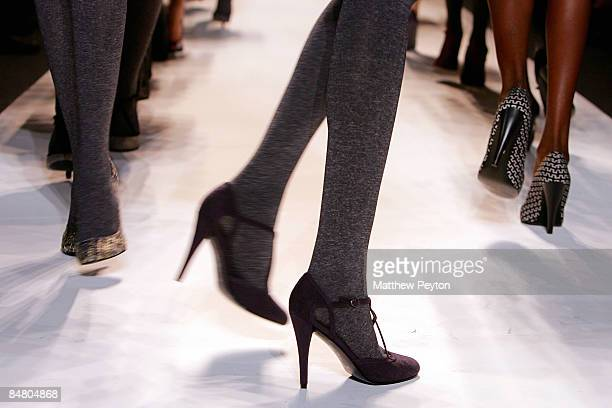A model walks the runway wearing Payless shoes at the Lela Rose Fall 2009 fashion show during MercedesBenz Fashion Week in the Salon at Bryant Park...