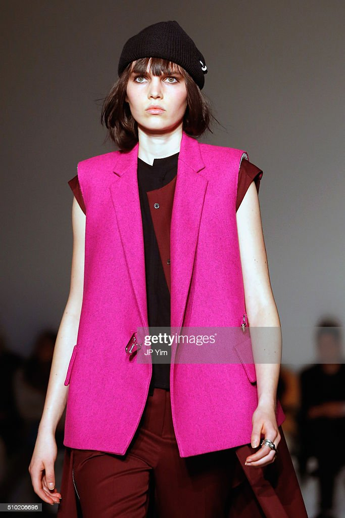 A model walks the runway wearing Public School Fall 2016 during New York Fashion Week on February 14, 2016 in New York City.