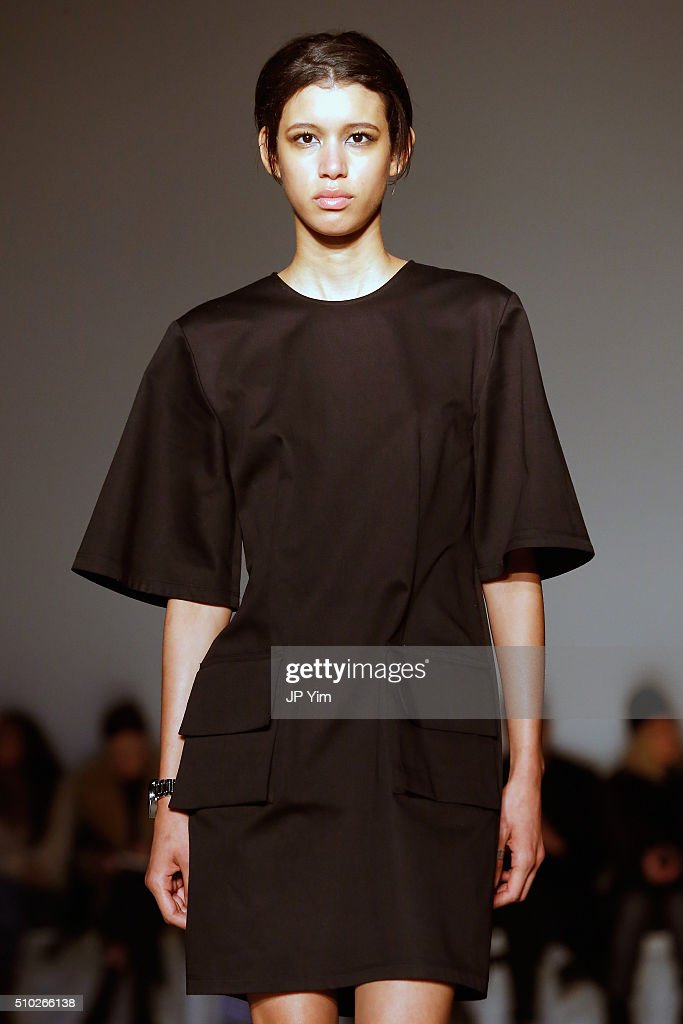 A model walks the runway wearing Public School Fall 2016 during New York Fashion Week on February 14, 2016 in New York City.