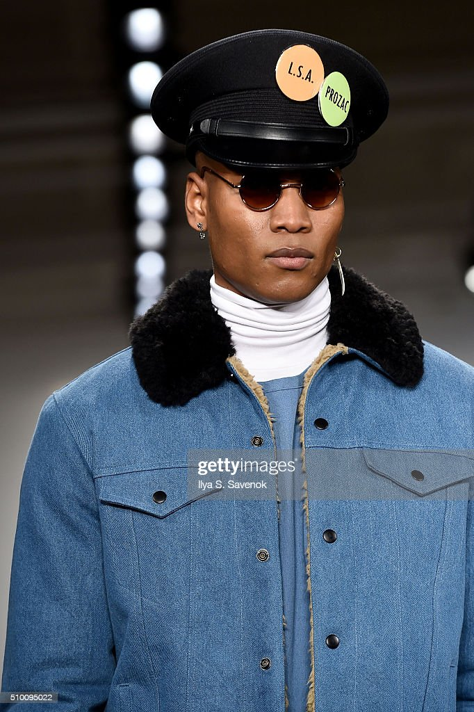 A model walks the runway wearing Pyer Moss Fall 2016 during MADE Fashion Week at Milk Studios on February 13, 2016 in New York City.