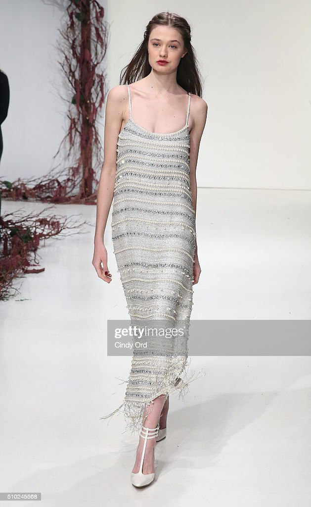 A model walks the runway wearing Rachel Zoe Fall 2016 during New York Fashion Week: The Shows at The Space, Skylight at Clarkson Sq on February 14, 2016 in New York City.