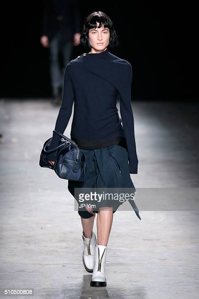 A model walks the runway wearing rag bone Fall 2016 during New York Fashion Week on February 15 2016 in New York City