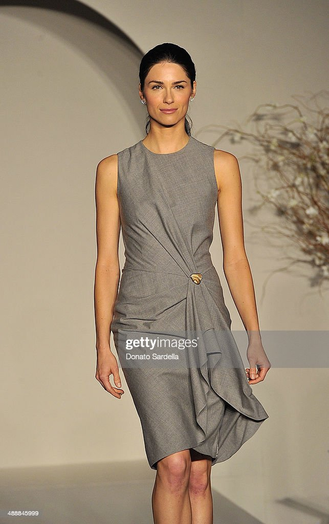 A model walks the runway wearing Ralph Lauren at C.H.I.P.S Colleagues Helpers in Philanthropic Service Children's Institute annual charity luncheon at The Four Seasons Hotel on May 8, 2014 in Beverly Hills, California.