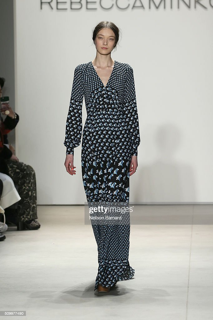 A model walks the runway wearing Rebecca Minkoff Fall 2016 during New York Fashion Week: The Shows at The Gallery, Skylight at Clarkson Sq on February 13, 2016 in New York City.