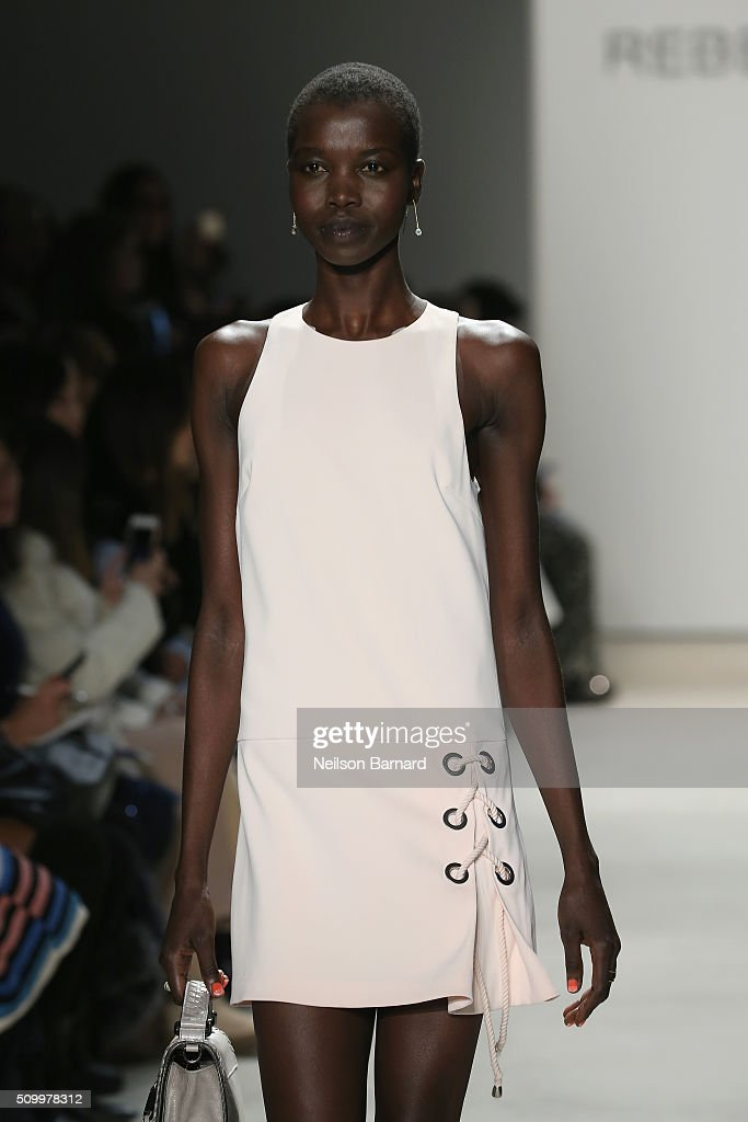 A model walks the runway wearing Rebecca Minkoff spring 2016 during New York Fashion Week: The Shows at The Gallery, Skylight at Clarkson Sq on February 13, 2016 in New York City.