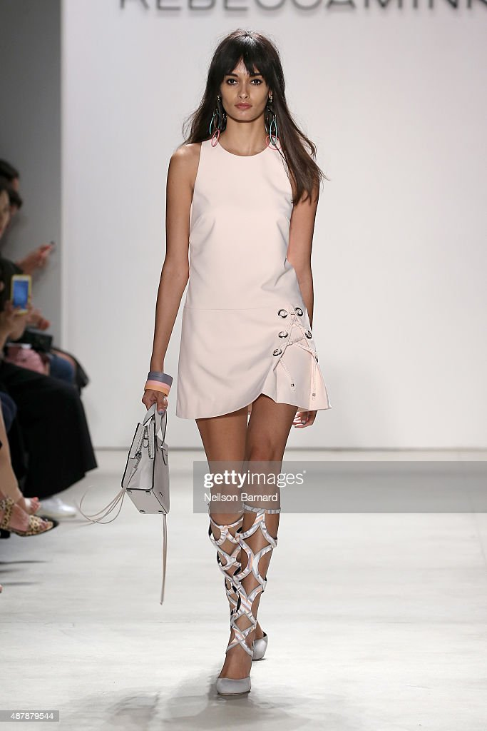 A model walks the runway wearing Rebecca Minkoff Spring 2016 with TRESemme during New York Fashion Week: The Shows at The Gallery, Skylight at Clarkson Sq on September 12, 2015 in New York City.