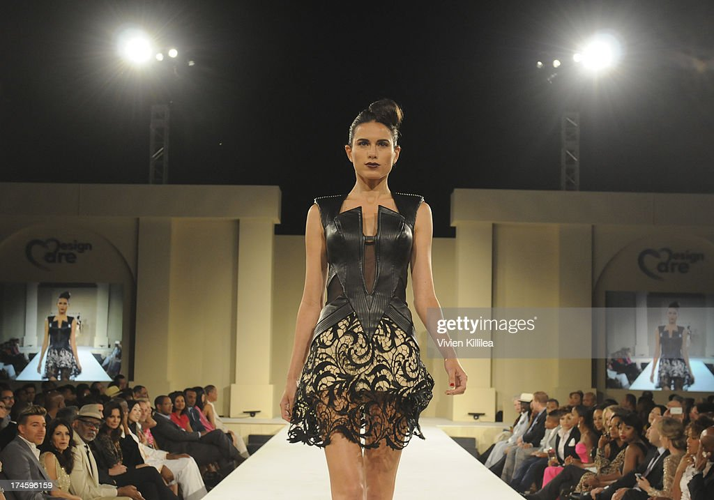 A model walks the runway wearing Rubin Singer at 15th Annual DesignCare on July 27, 2013 in Malibu, California.