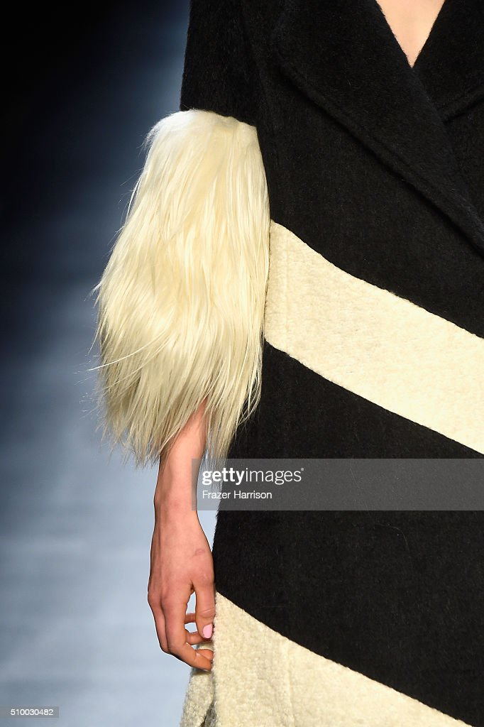 A model walks the runway wearing Son Jung Wan Fall 2016 during New York Fashion Week: The Shows at The Dock, Skylight at Moynihan Station on February 13, 2016 in New York City.