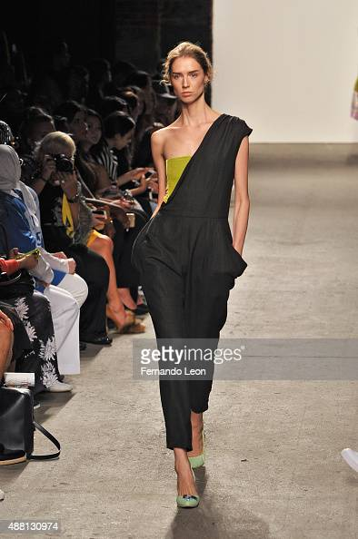 A model walks the runway wearing Vivienne Hu Spring 2016 during New York Fashion Week The Shows at Art Beam on September 13 2015 in New York City