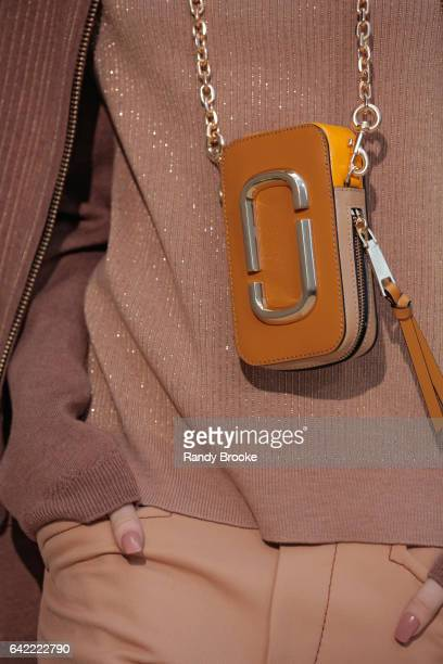 A model walks the runway with a hand bag detail during the Marc Jacobs Runway show February 2017/ Fall 2017 during New York Fashion Week The Showson...
