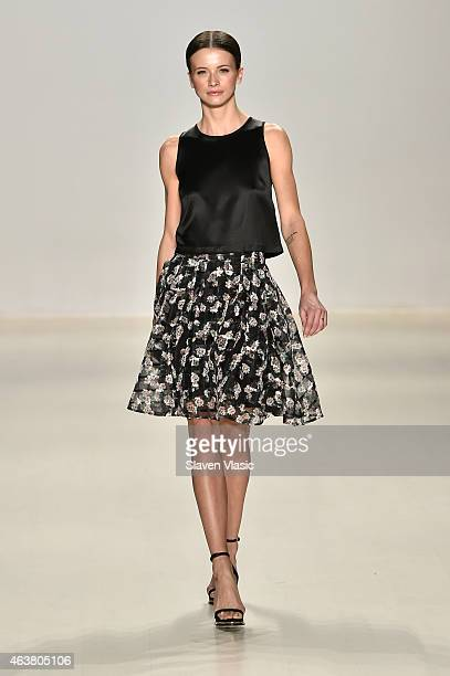 A model walks the runway with TRESemme at the Erin Fetherston fashion show during MercedesBenz Fashion Week Fall 2015 at The Salon at Lincoln Center...