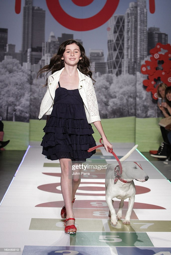 A model walks the Target runway showcase during the 2013 petitePARADE Kids Fashion Week at Industria Superstudio on March 9, 2013 in New York City.
