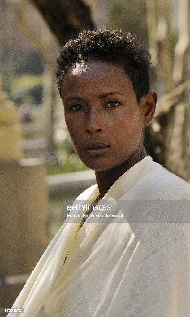 Model Waris Dirie poses during a portrait session on March 12, 2010 in Madrid, Spain.