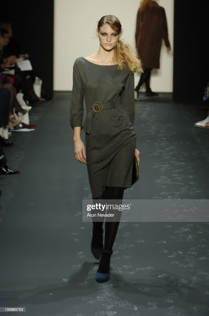 Model wearing 12th St Cynthia Vincent Fall 2007 during MercedesBenz Fashion Week Fall 2007 12th Street by Cynthia Vincent Runway at The Showroom...