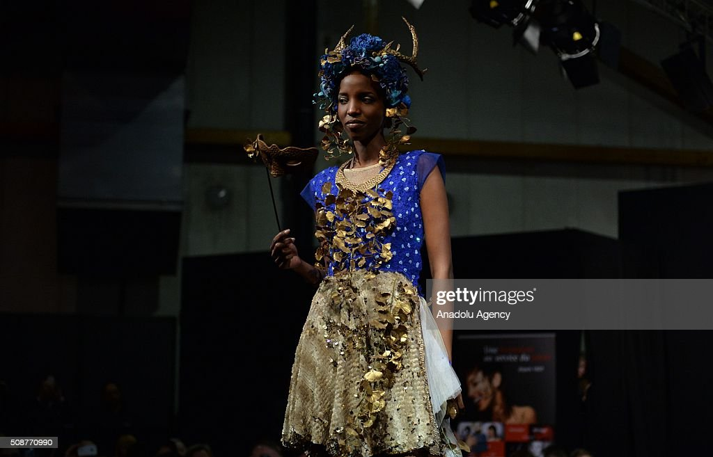 A model wearing a costume made of chocolate walks the runway during the Brussels Chocolate Fair, also known as Salon Du Chocolat, in Brussels, Belgium, on February 6, 2016. The Salon du Chocolat is a yearly trade fair for the international chocolate industry.