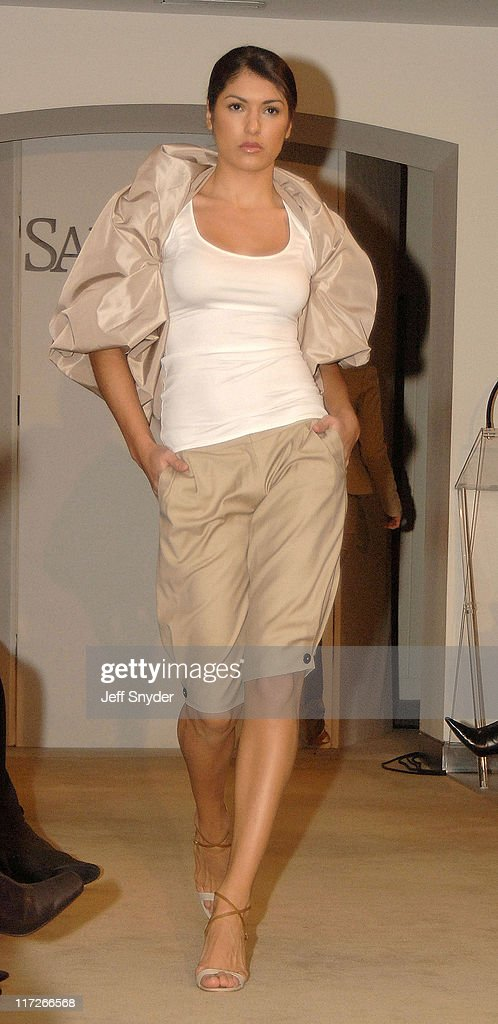A model wearing a creation by designer Kai Milla during Stevie Wonder Attends His Wife Kai Milla's Fashion Show - December 11, 2005 at Saks Jandel in Washington, D.C., -, United States.