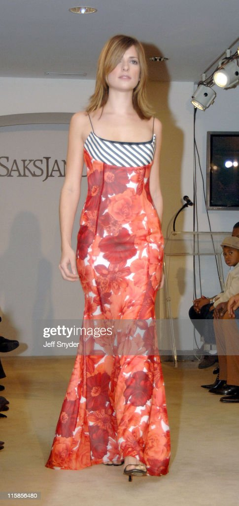 A model wearing a creation from the Escada Fashion range