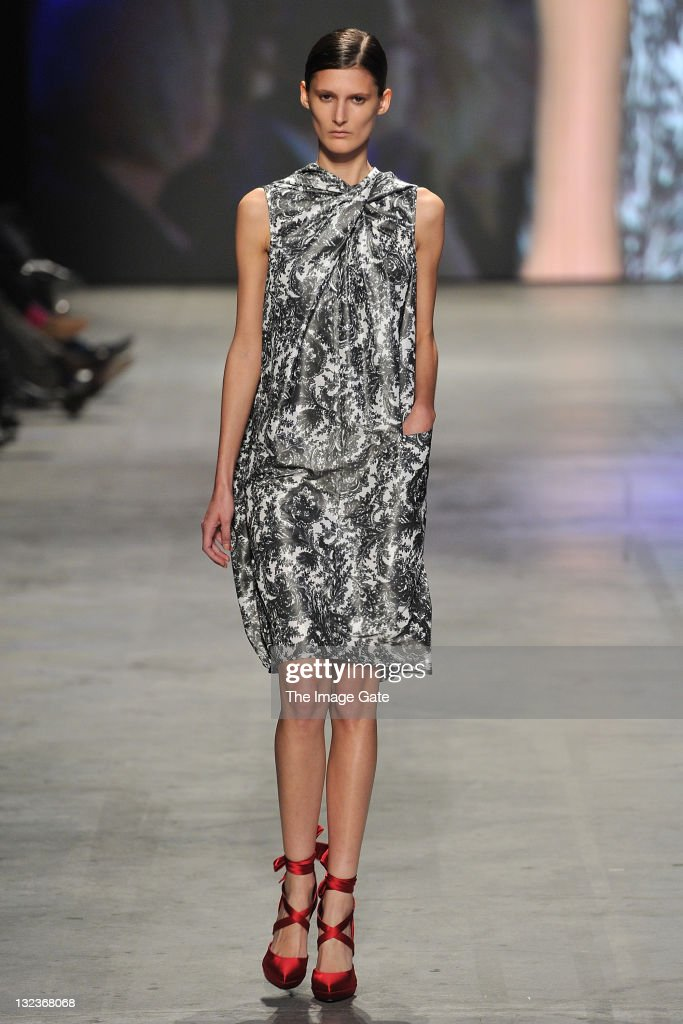 A model wearing a Talbot Runhof design walks the runway during the third day of the Charles Voegele Fashion Days on November 11, 2011 in Zurich, Switzerland.