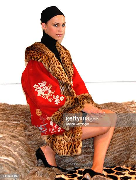 Model wearing Adrienne Landau Collection during Fur Information Council of America Fur Fashion Week Adrienne Landau Fall / Winter 2006 Collection at...