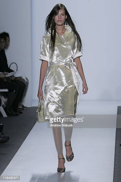 Model wearing Akiko Ogawa Fall 2006 during Olympus Fashion Week Fall 2006 Akiko Ogawa Runway at The Atelier Bryant Park in New York New York United...