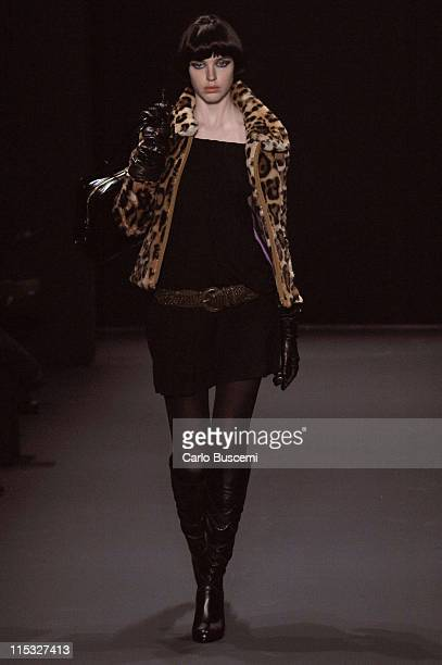 Model wearing Akiko Ogawa Fall 2007 during MercedesBenz Fashion Week Fall 2007 Akiko Ogawa Runway in New York City United States