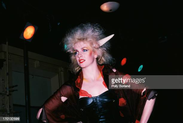 A model wearing an outfit by Sara Thorn and Bruce Slorach at The Abyss Studio at the 'Fashion 1983' show in Melbourne 17th May 1983 The fashion show...