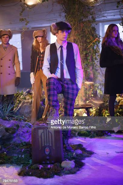 Model wearing Band of Outsiders during Mercedes Benz Fashion Week Fall 2008 on January 31 2008 in New York City