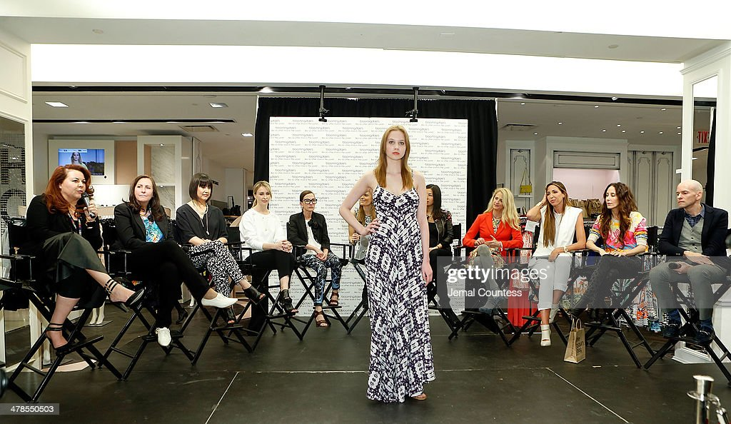 A model wearing Cynthia Vincent walks during the Collective Launch Event at Bloomingdale's 59th Street Store on March 13 2014 in New York City