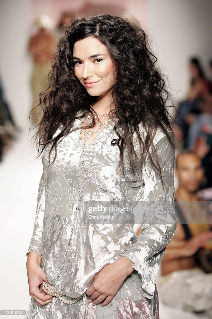 Model wearing Da-Nang Spring 2005 during Mercedes-Benz Spring 2005 Fashion Week at Smashbox Studios - Da-Nang - Runway at Smashbox Studios in Culver City, California, United States.