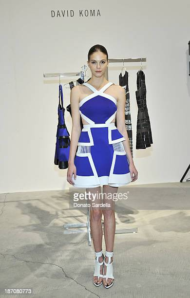 A model wearing David Koma at the LONDON show ROOMS LA Opening SS14 on November 5 2013 in Los Angeles California