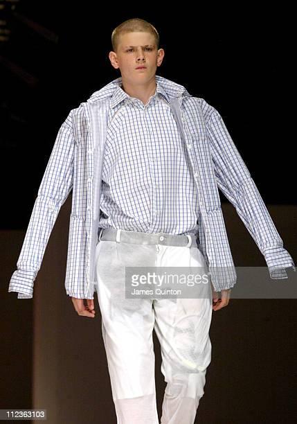 Model wearing Fashion East Topman Spring/Summer 2006