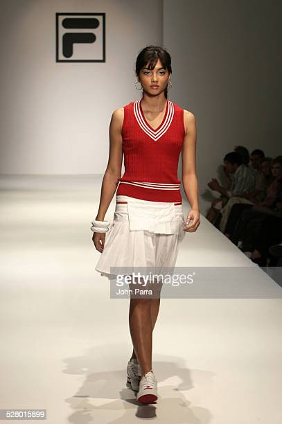 Model wearing Fila Fall 2006 during Funkshion Fashion Week Miami Beach Fall 2006 Fila Runway at Funkshion Tent on Ocean Drive in Miami Beach Florida...